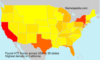 Surname Suzan in USA