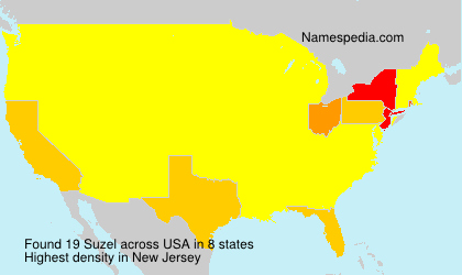 Surname Suzel in USA