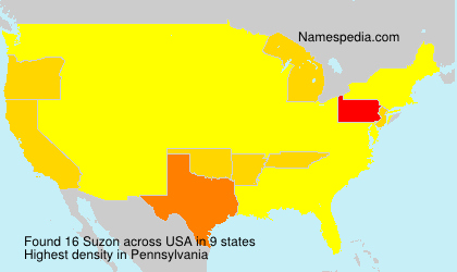 Surname Suzon in USA