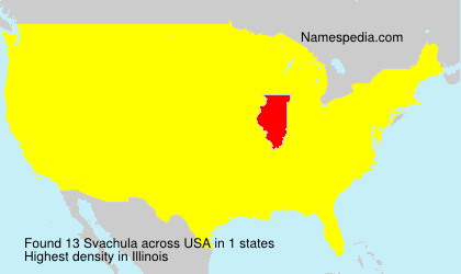 Surname Svachula in USA