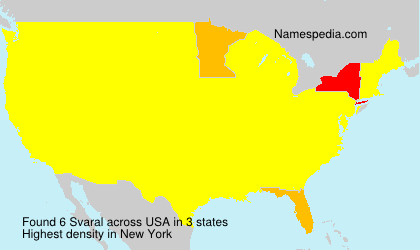 Surname Svaral in USA