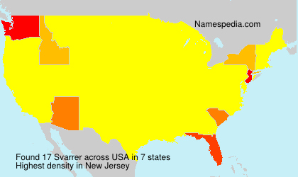 Surname Svarrer in USA