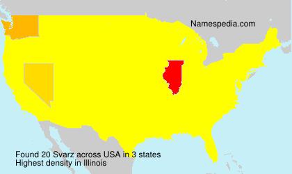 Surname Svarz in USA