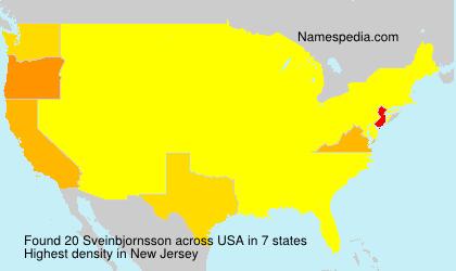 Surname Sveinbjornsson in USA