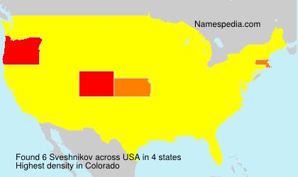 Familiennamen Sveshnikov - USA