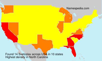 Familiennamen Svetoslav - USA