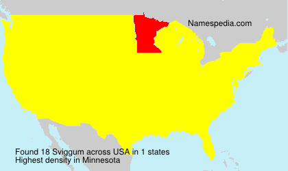 Surname Sviggum in USA