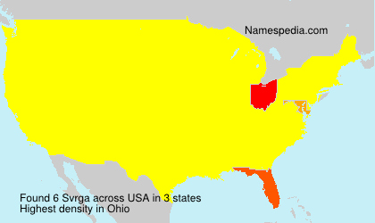 Surname Svrga in USA