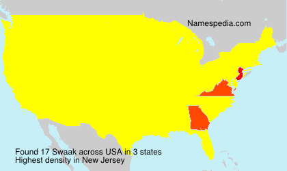 Surname Swaak in USA
