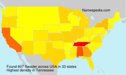 Surname Swader in USA