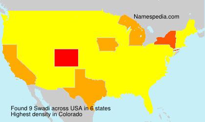 Surname Swadi in USA