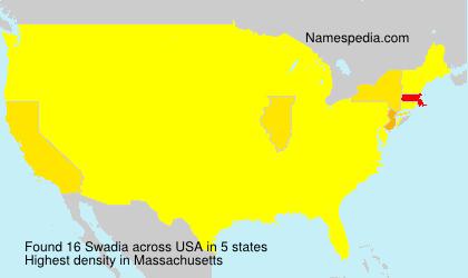 Surname Swadia in USA