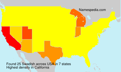 Surname Swadish in USA
