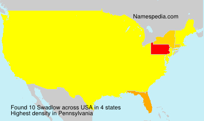 Surname Swadlow in USA