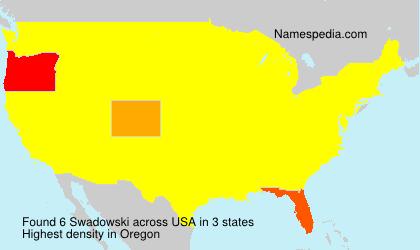Familiennamen Swadowski - USA