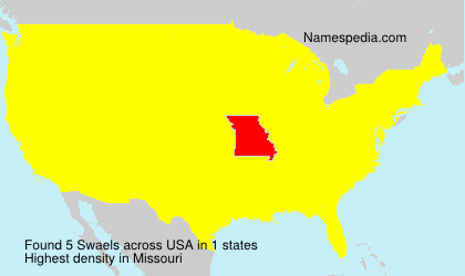 Surname Swaels in USA