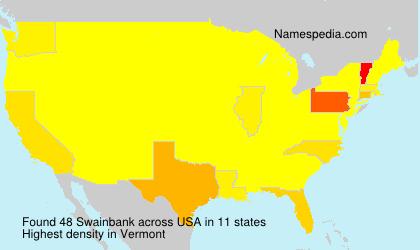 Surname Swainbank in USA