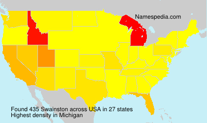 Familiennamen Swainston - USA