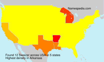 Surname Swaizer in USA