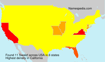 Surname Swalef in USA