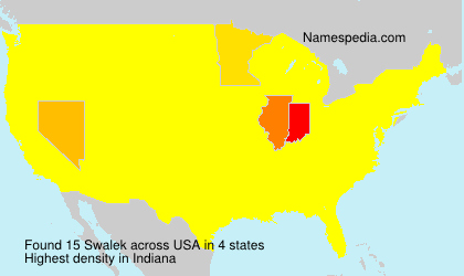 Surname Swalek in USA