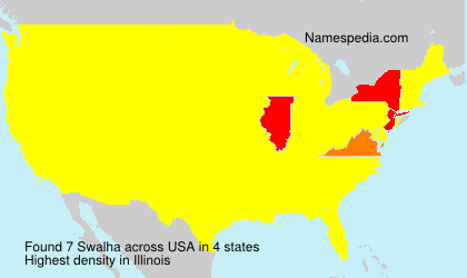 Surname Swalha in USA