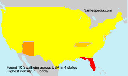 Surname Swalheim in USA