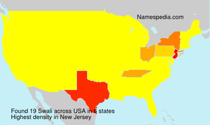 Surname Swali in USA