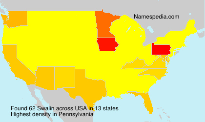 Surname Swalin in USA