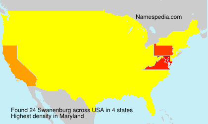 Surname Swanenburg in USA