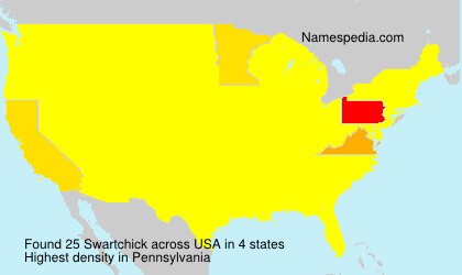 Surname Swartchick in USA