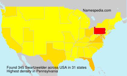 Surname Swartzwelder in USA