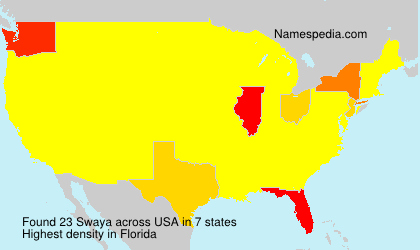 Surname Swaya in USA