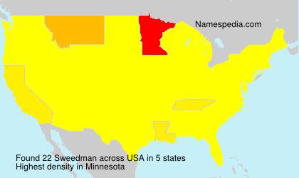 Familiennamen Sweedman - USA
