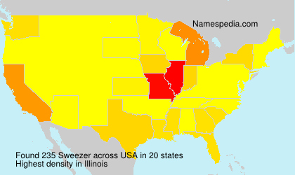 Surname Sweezer in USA