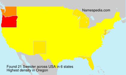 Familiennamen Sweider - USA