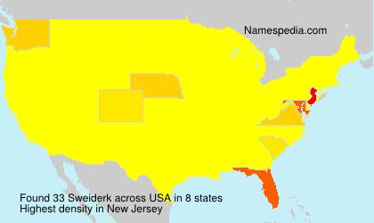 Surname Sweiderk in USA
