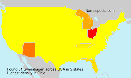 Surname Sweinhagen in USA