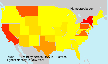 Surname Swimley in USA