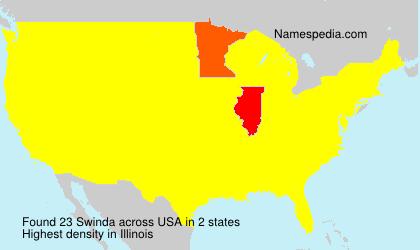 Surname Swinda in USA