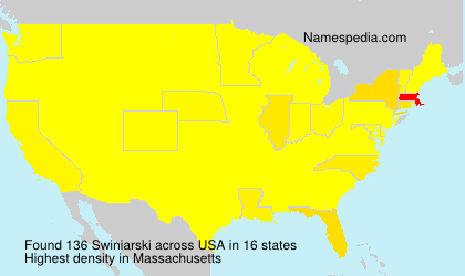 Surname Swiniarski in USA