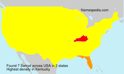 Surname Swiryd in USA