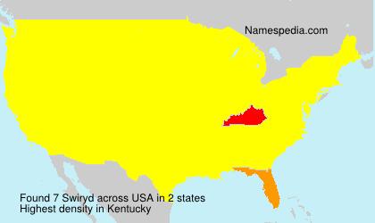 Surname Swiryd in USA