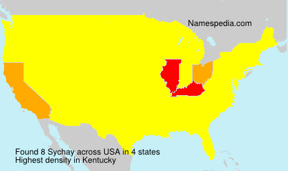 Surname Sychay in USA
