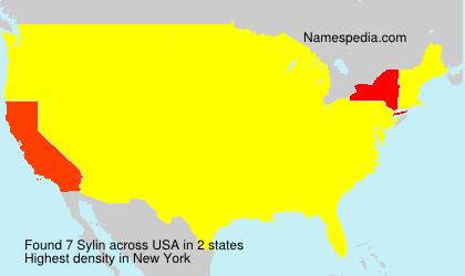Surname Sylin in USA