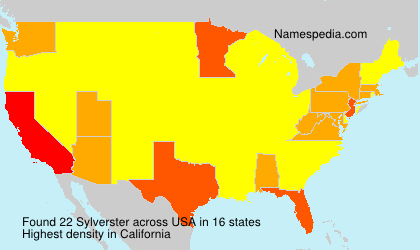Surname Sylverster in USA