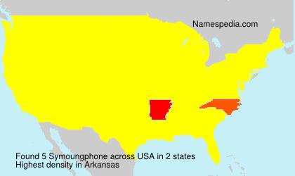 Familiennamen Symoungphone - USA