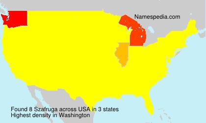 Familiennamen Szafruga - USA