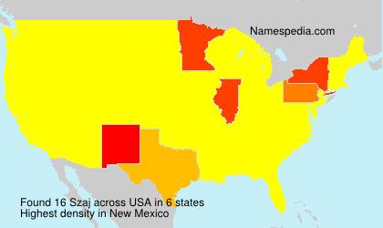 Surname Szaj in USA
