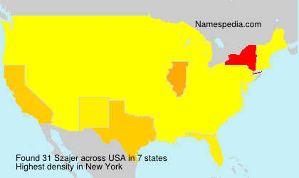 Surname Szajer in USA